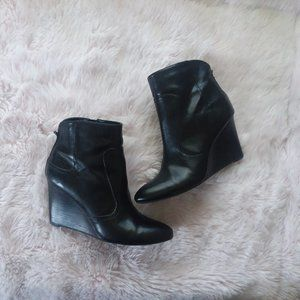 Nine West Black Wedge Booties